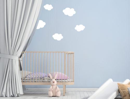 Eine Wand voller Wolken