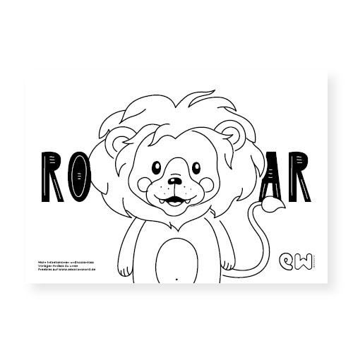 emotionworld ausmalbild löwe - kostenlose vorlage