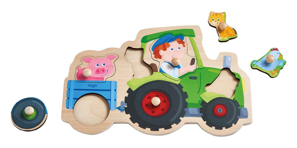 emotionworld haba greifpuzzle lustige traktorfahrt