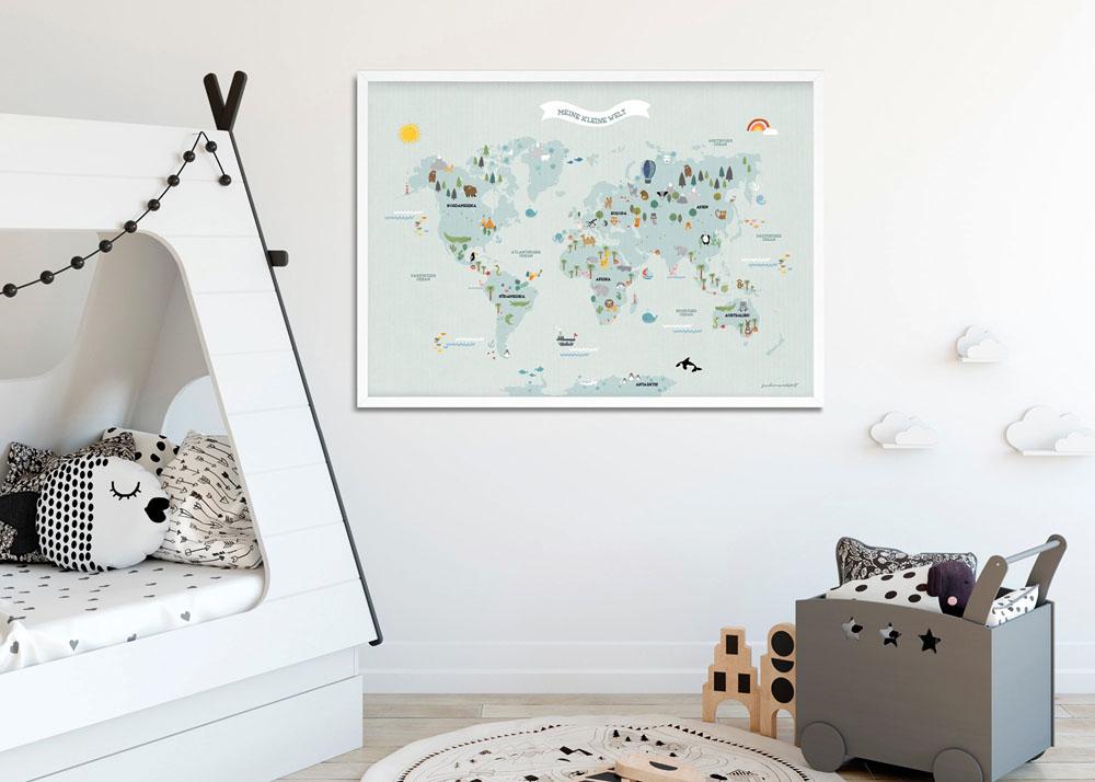 emotionworld liebevolle baby-papeterie von fischomaswerkstatt poster meine kleine welt